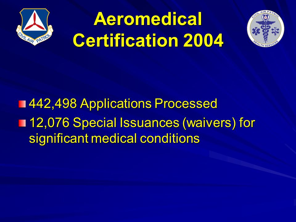 Aeromedical Certification 2004