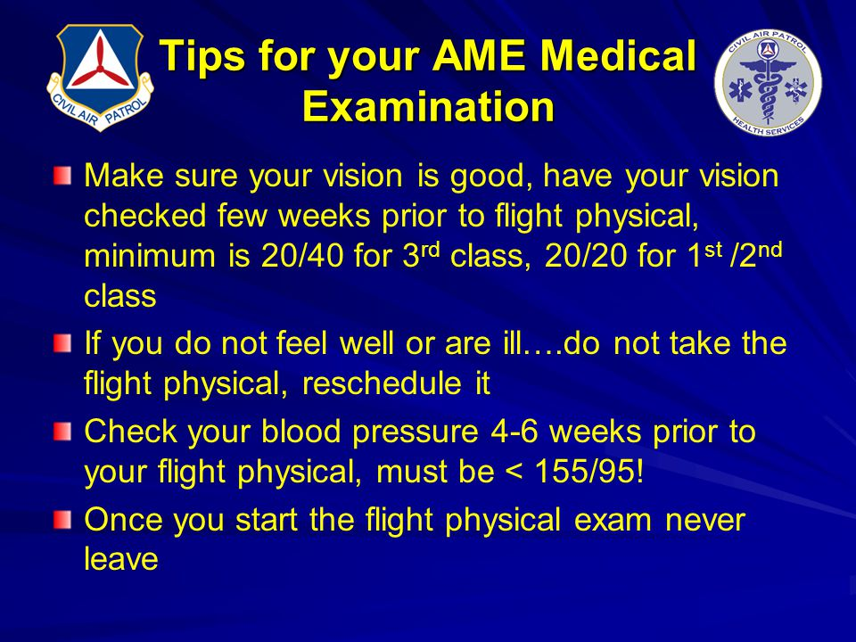 Tips for your AME Medical Examination
