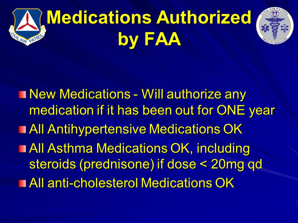 Medications Authorized by FAA