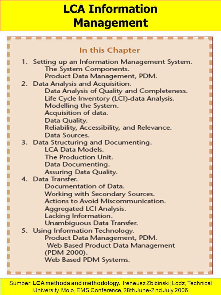 LCA Information Management