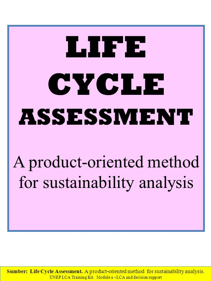 A product-oriented method for sustainability analysis