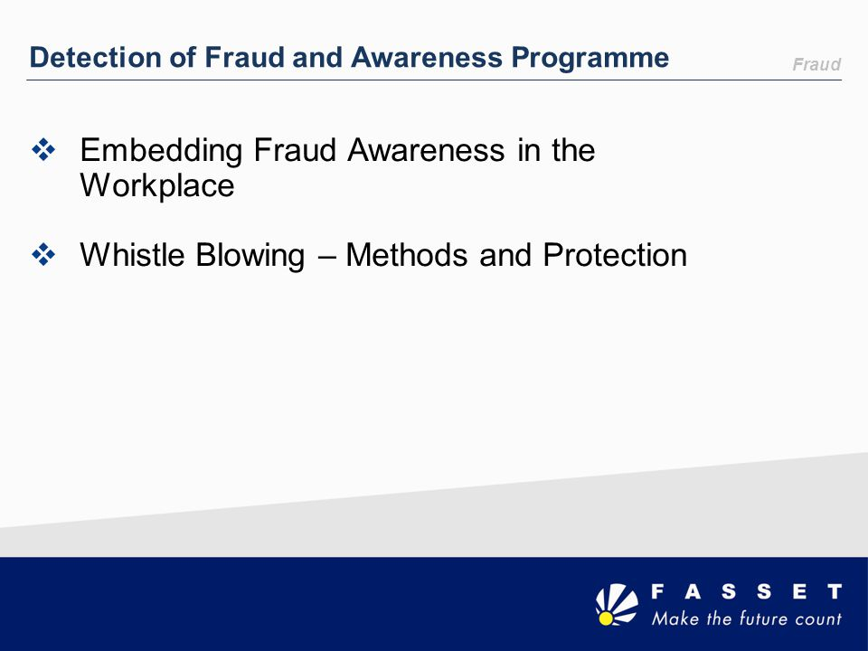 Embedding Fraud Awareness in the Workplace