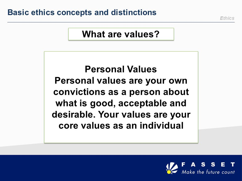 What are values Personal Values