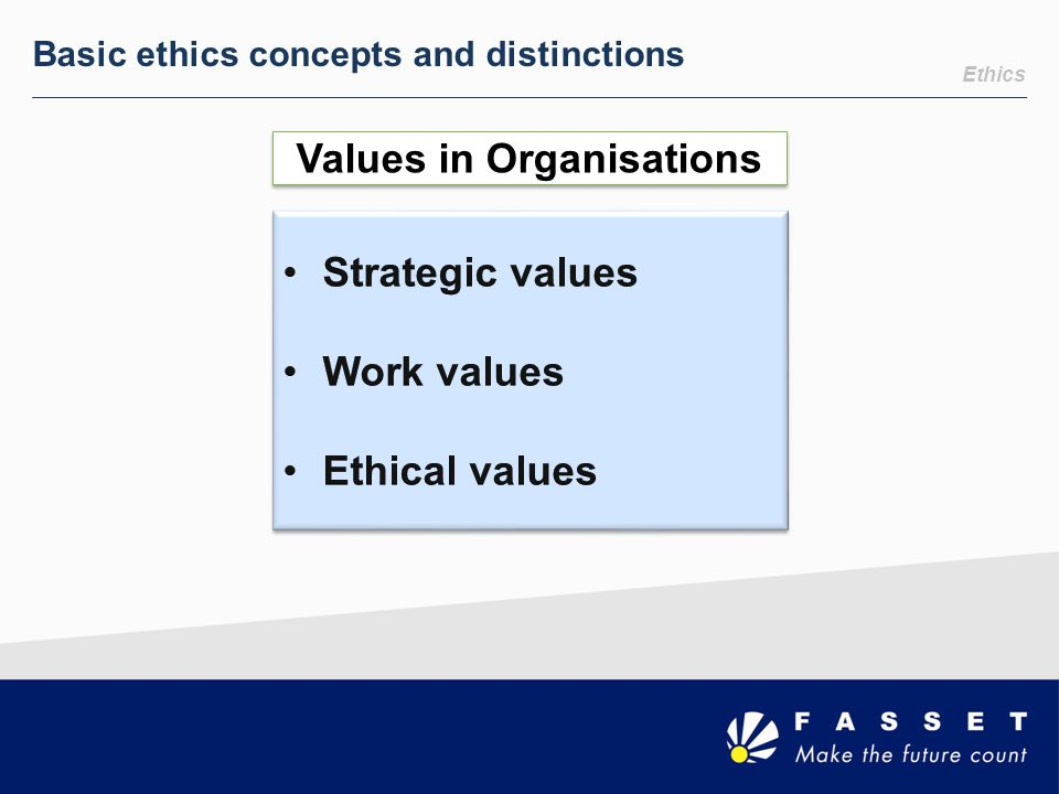 Values in Organisations