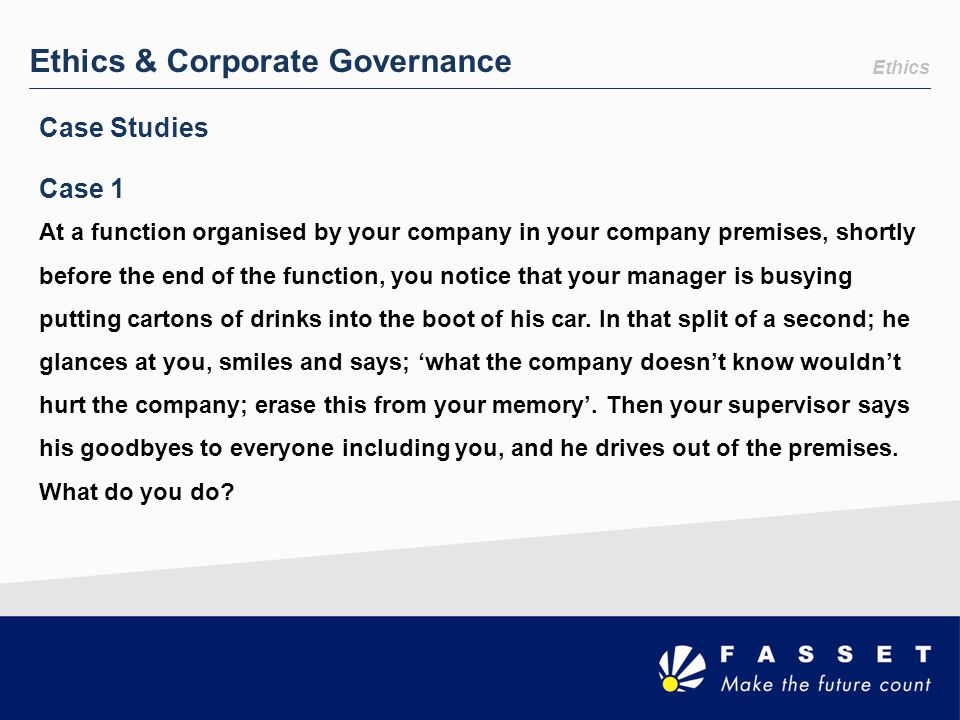 Ethics & Corporate Governance