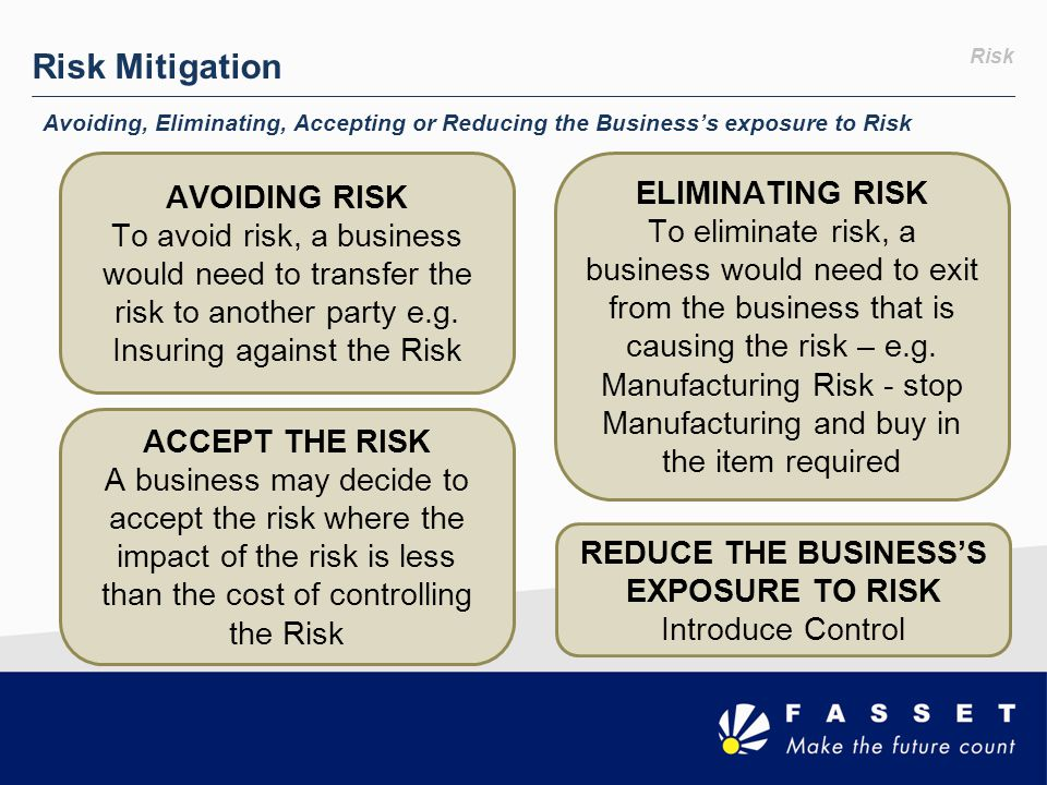 REDUCE THE BUSINESS'S EXPOSURE TO RISK