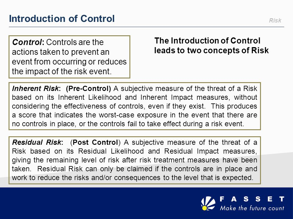 Introduction of Control