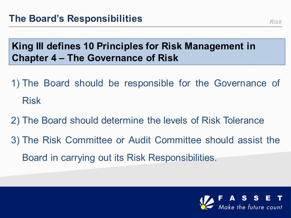 The Board's Responsibilities