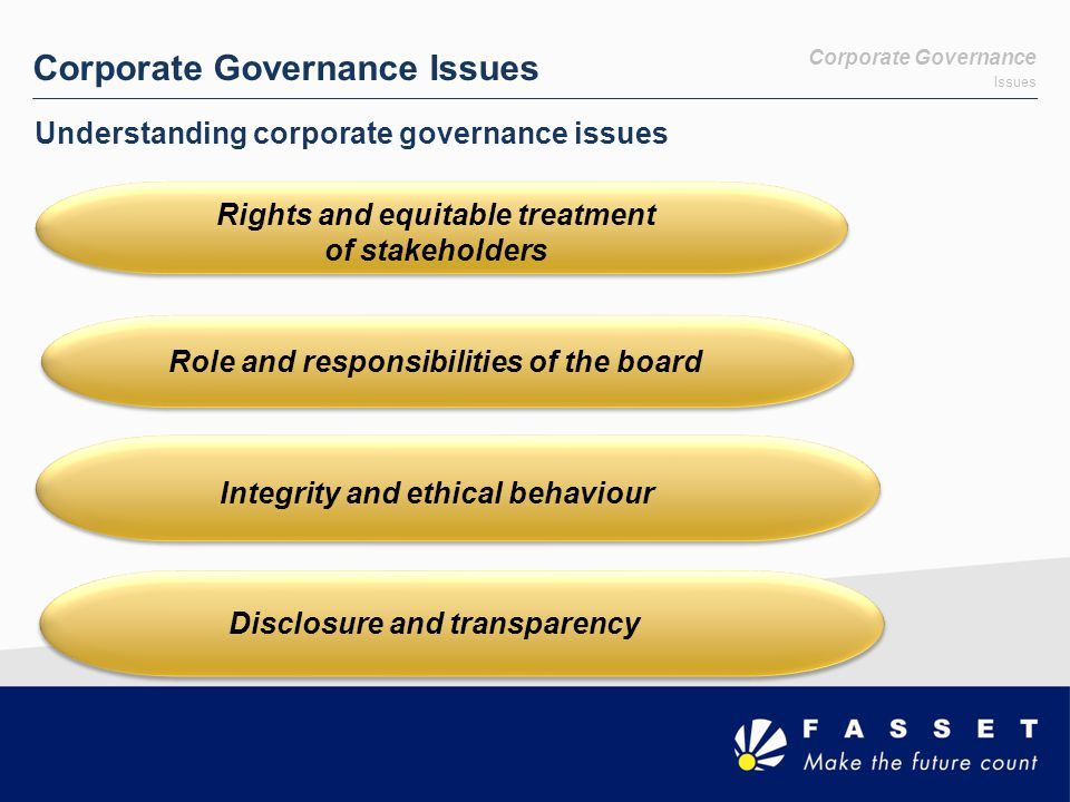 Corporate Governance Issues