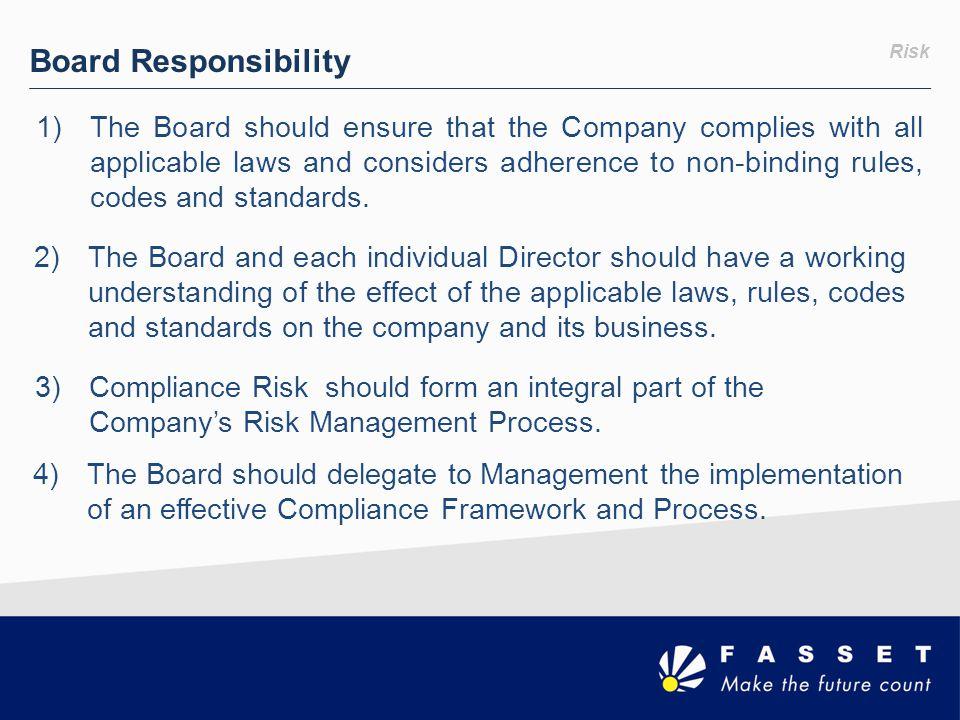 Board Responsibility Risk.