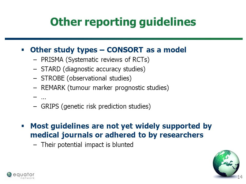 Other reporting guidelines