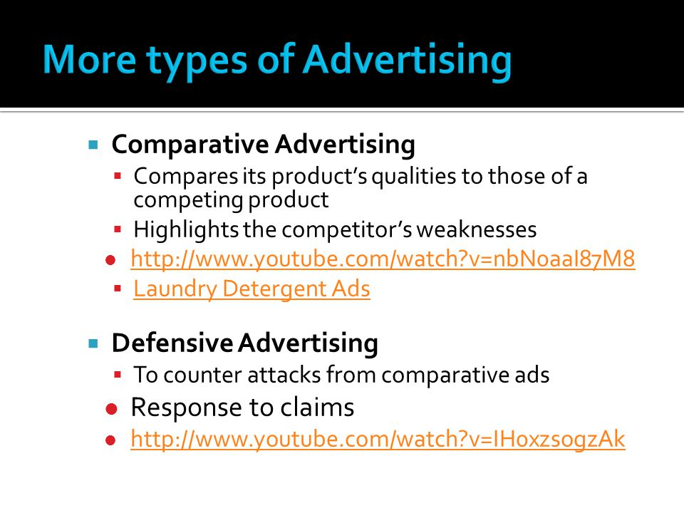 More types of Advertising