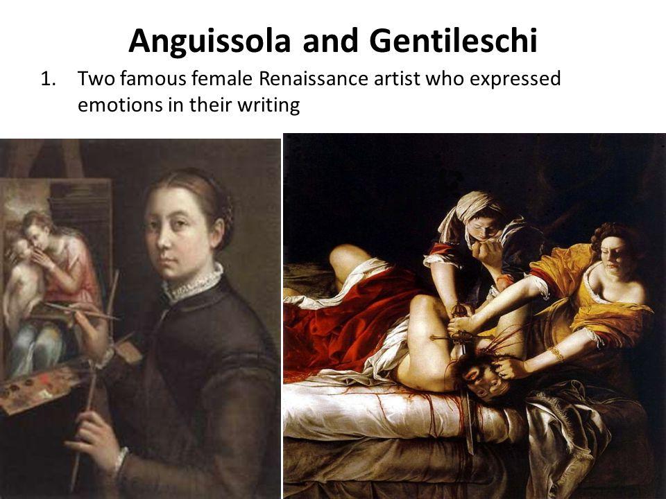 Anguissola and Gentileschi