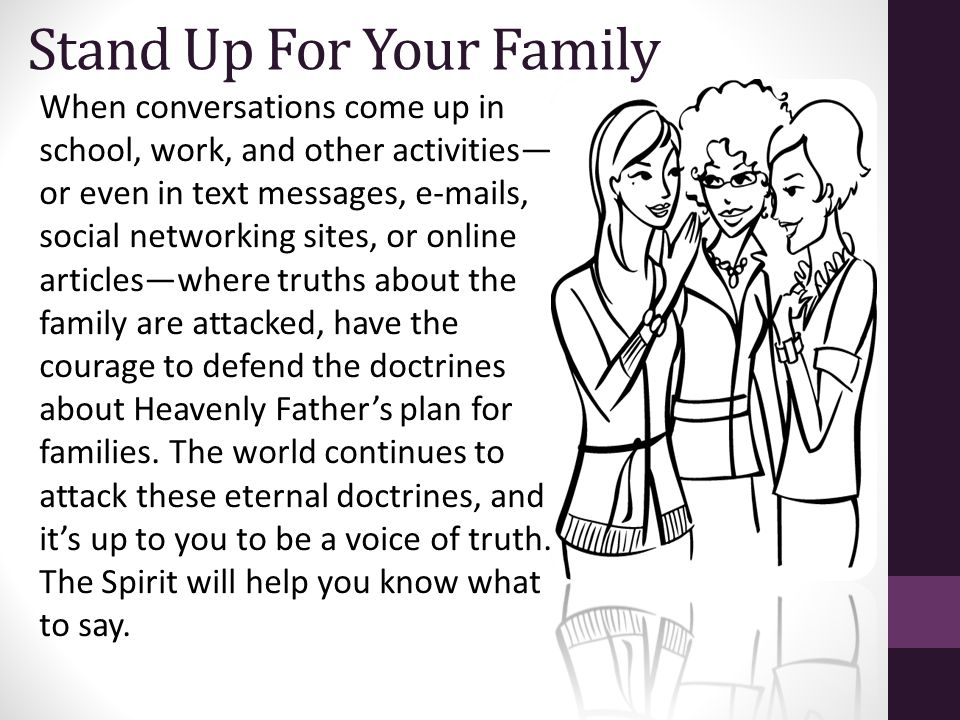 Stand Up For Your Family