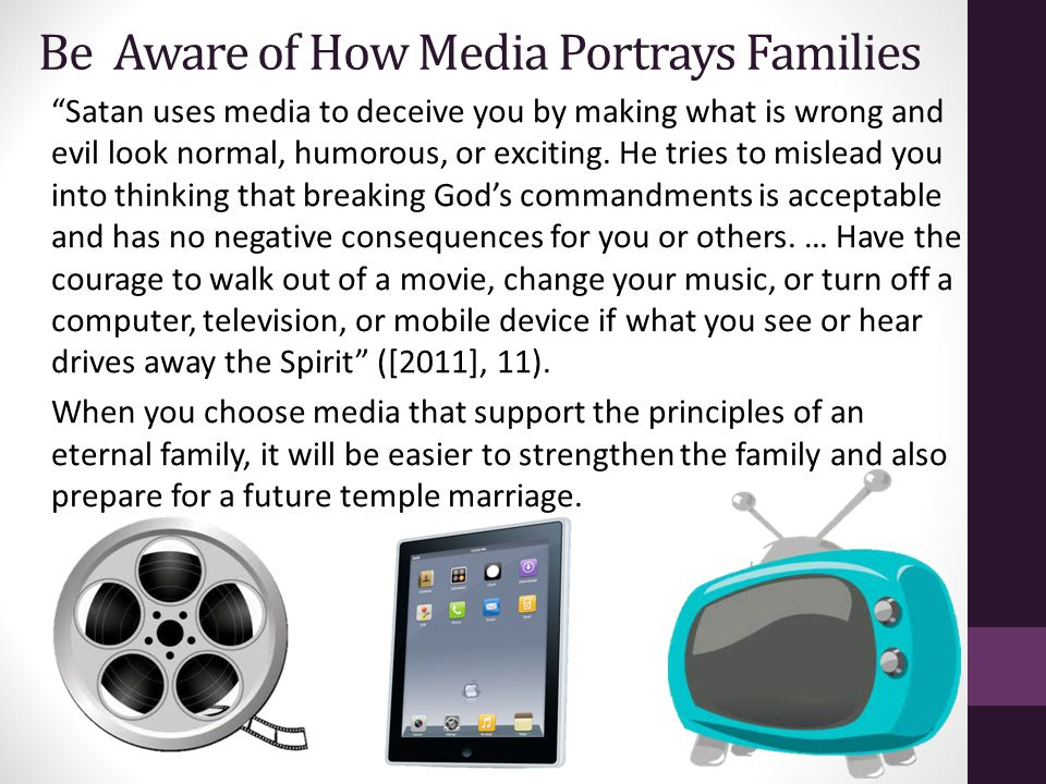 Be Aware of How Media Portrays Families