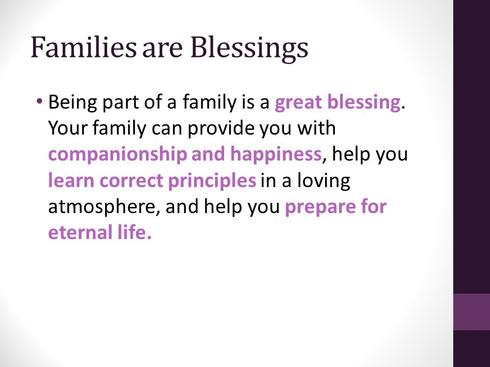 Families are Blessings