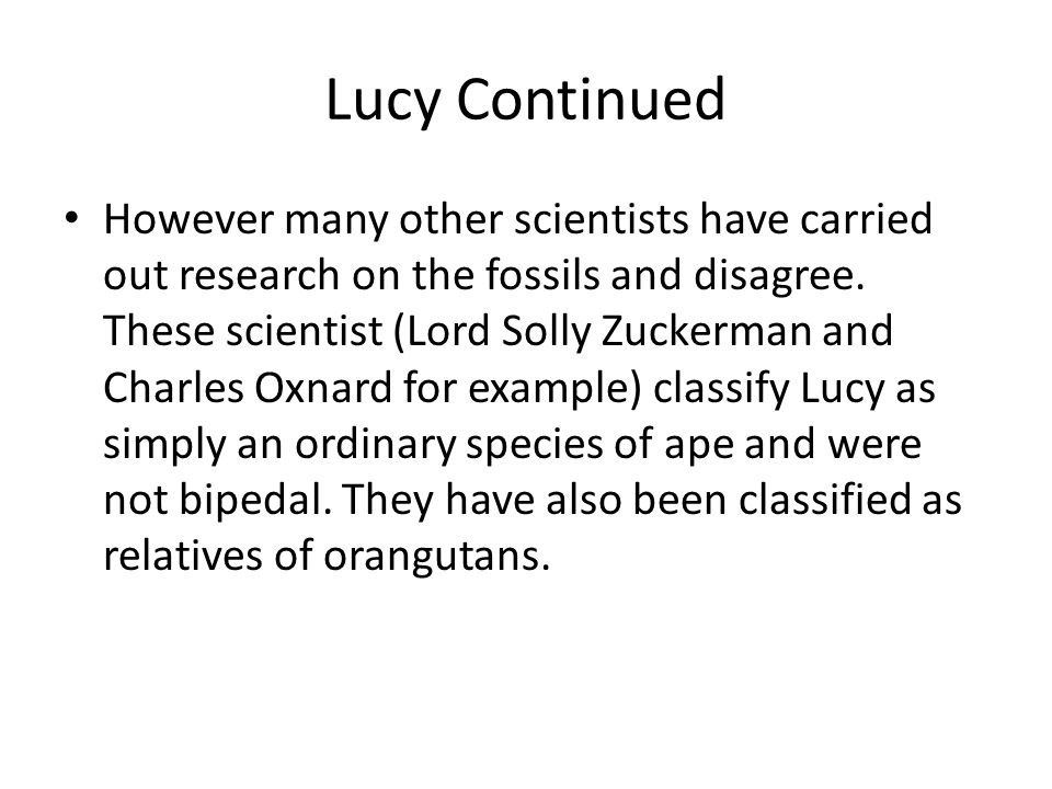 Lucy Continued