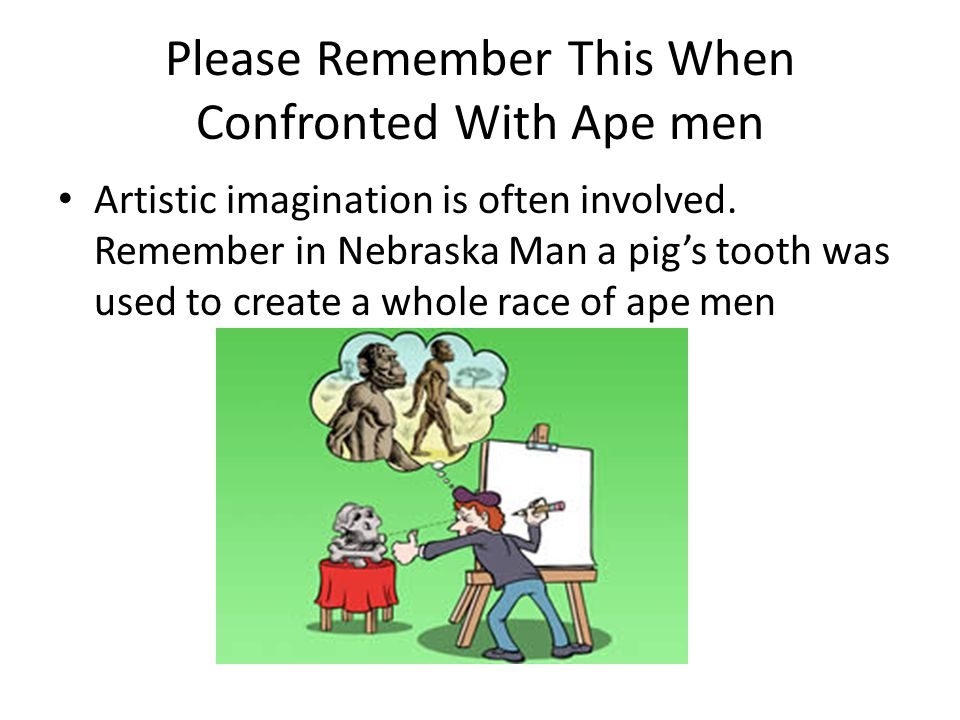 Please Remember This When Confronted With Ape men