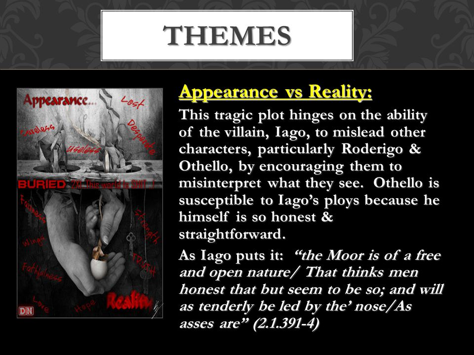 Themes Appearance vs Reality: