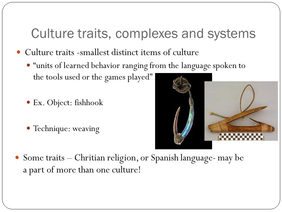 Culture traits, complexes and systems