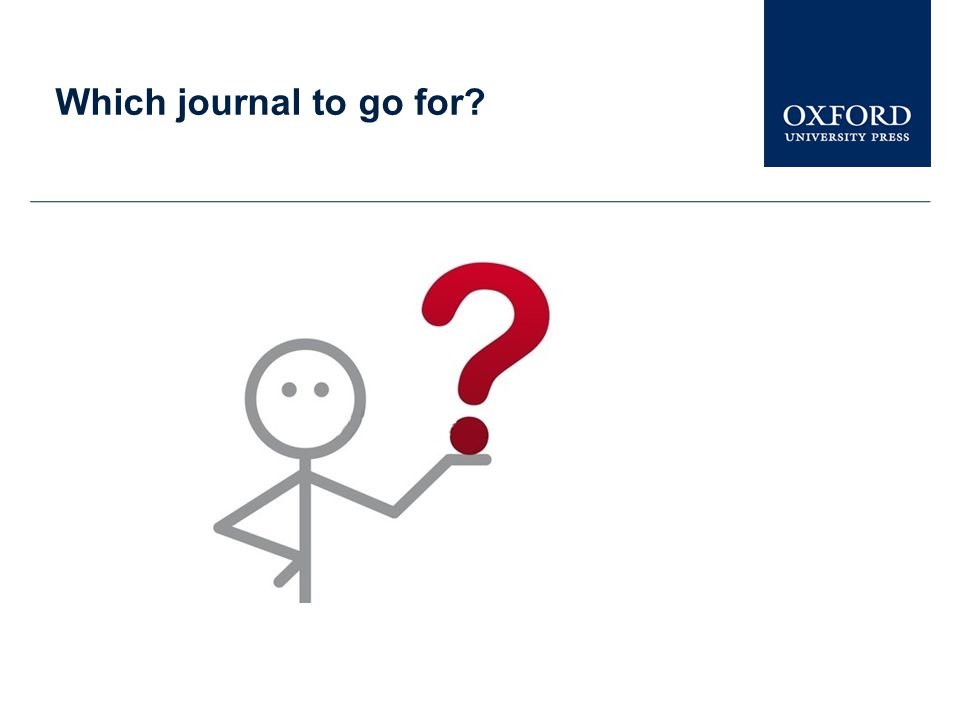 Which journal to go for