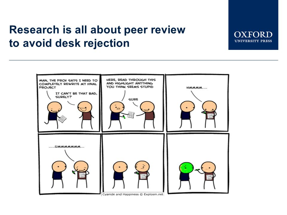 Research is all about peer review to avoid desk rejection