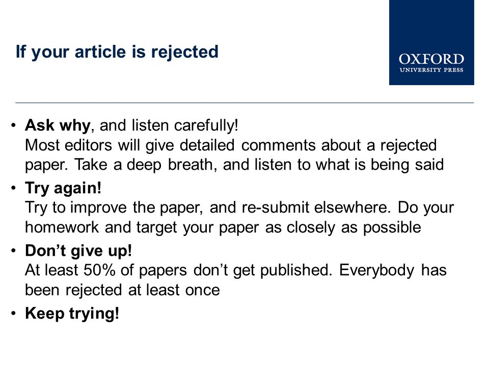 If your article is rejected