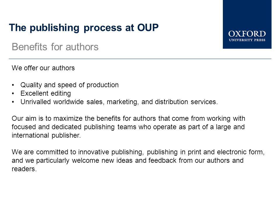 The publishing process at OUP