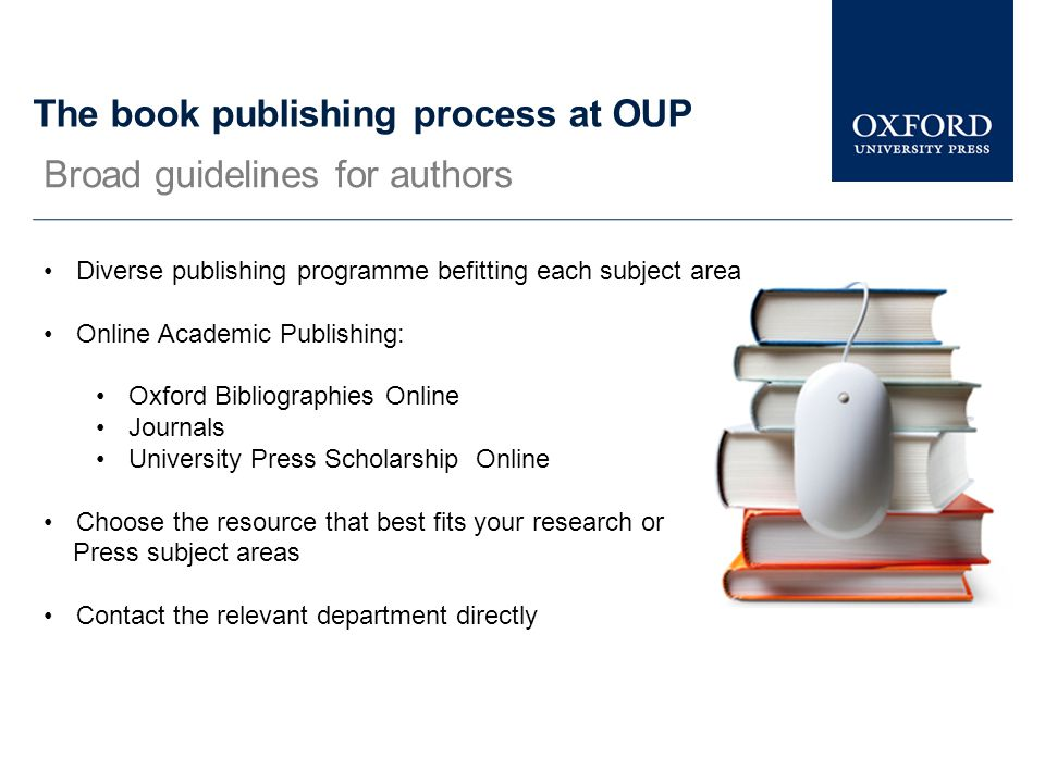 The book publishing process at OUP