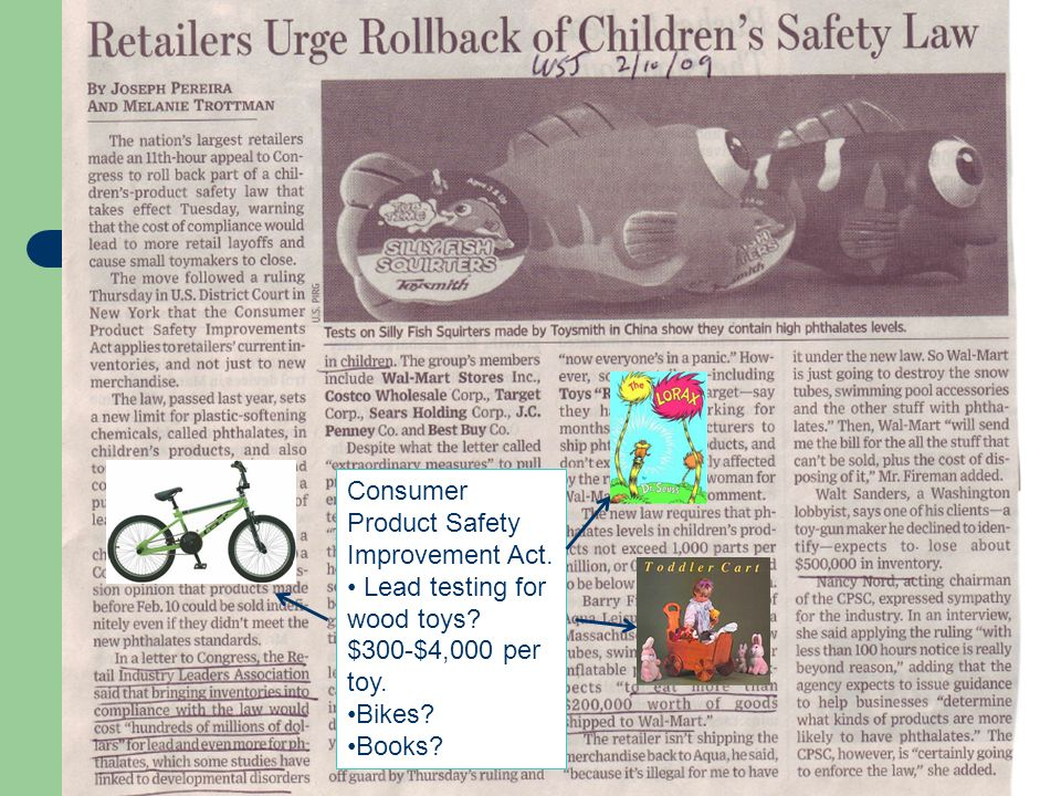 Consumer Product Safety Improvement Act.
