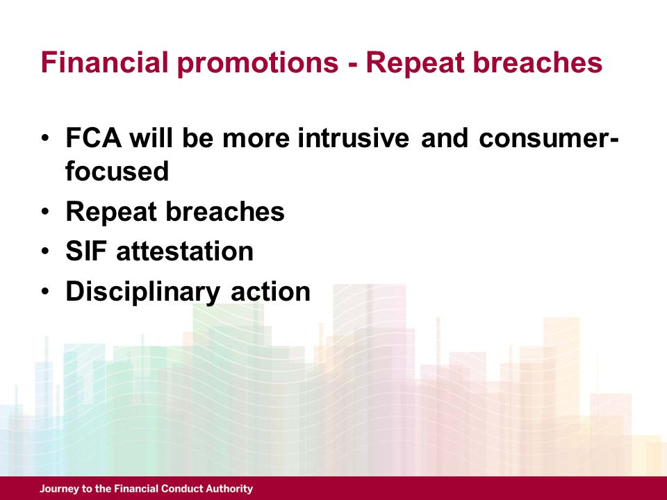 Financial promotions - Repeat breaches
