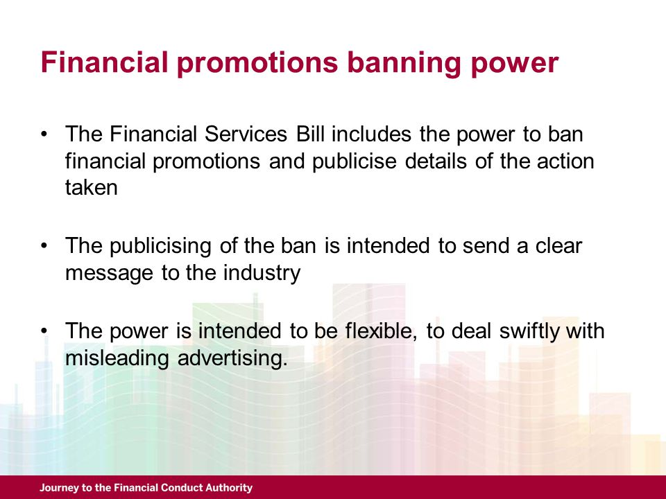 Financial promotions banning power