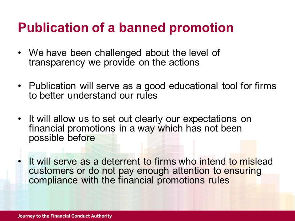 Publication of a banned promotion