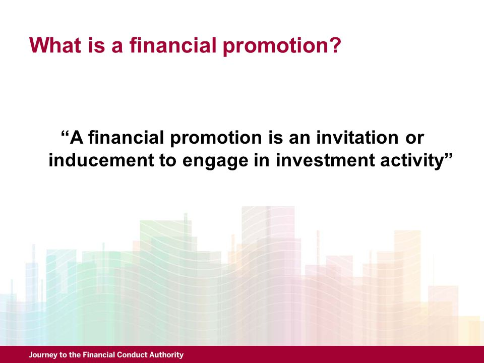 What is a financial promotion