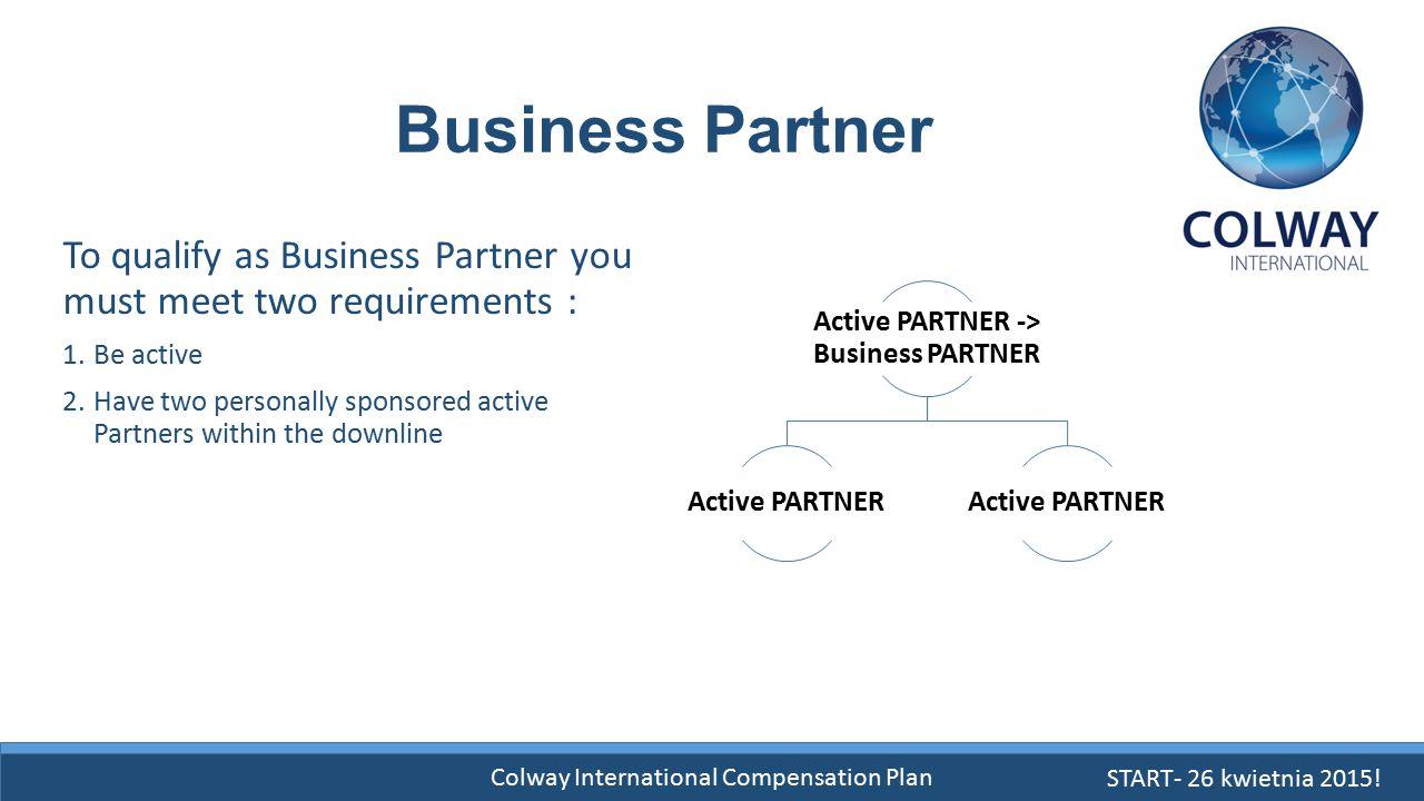 Active PARTNER -> Business PARTNER