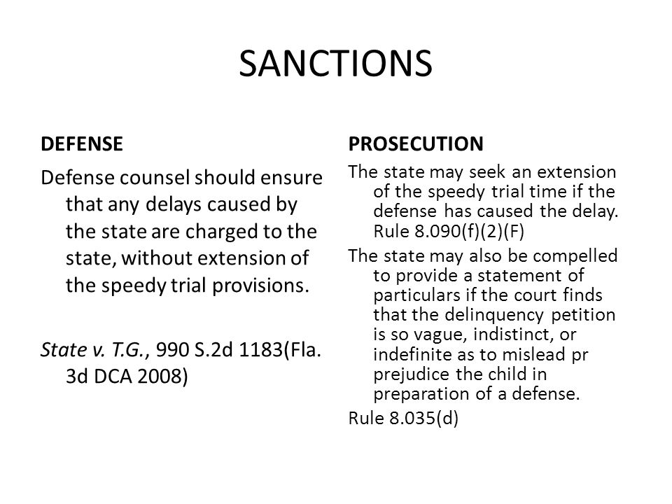 SANCTIONS DEFENSE PROSECUTION
