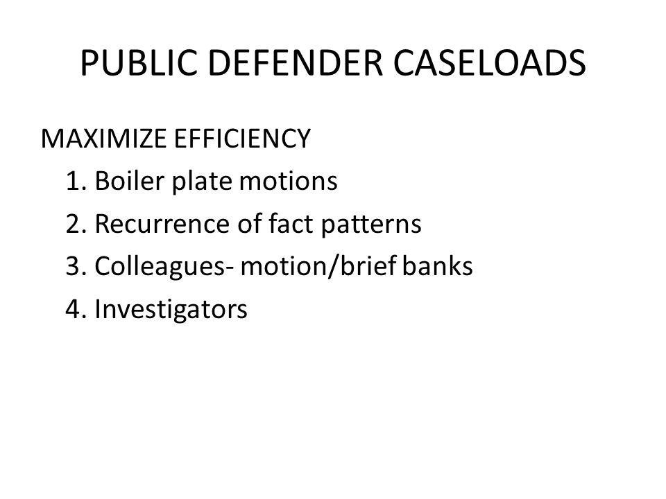 PUBLIC DEFENDER CASELOADS