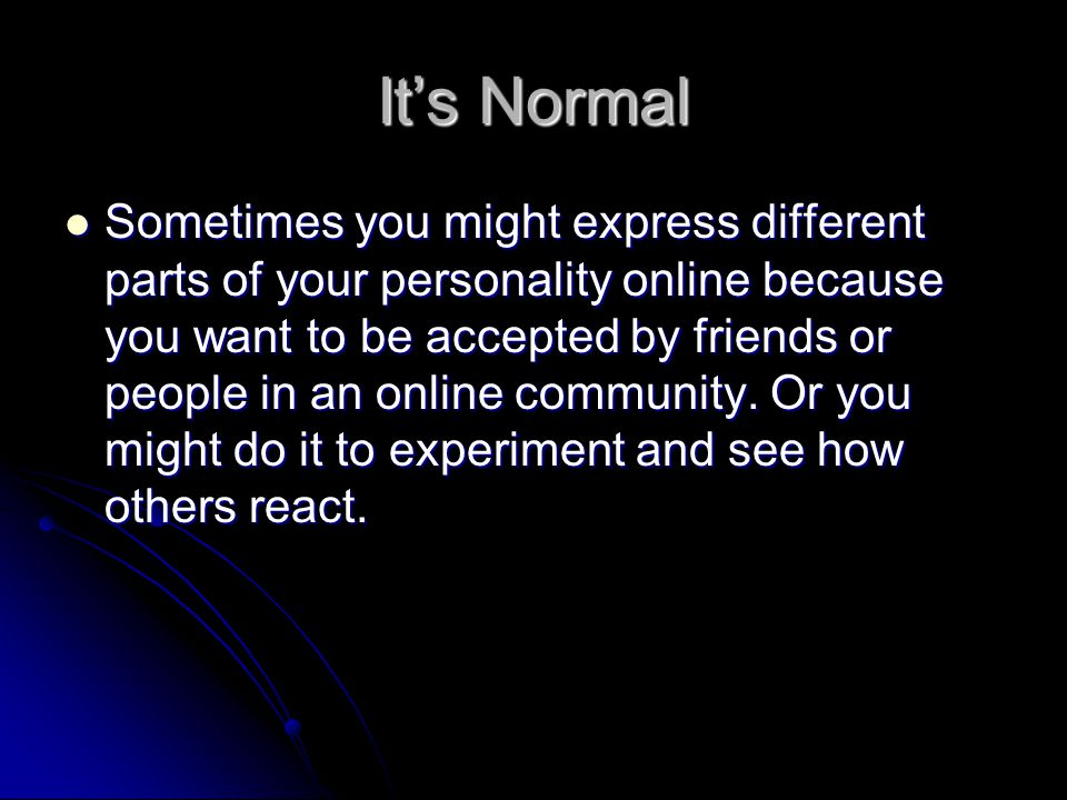 It's Normal