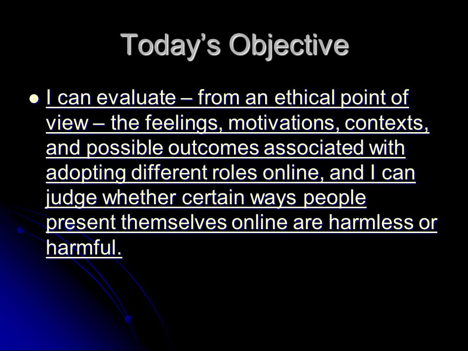 Today's Objective