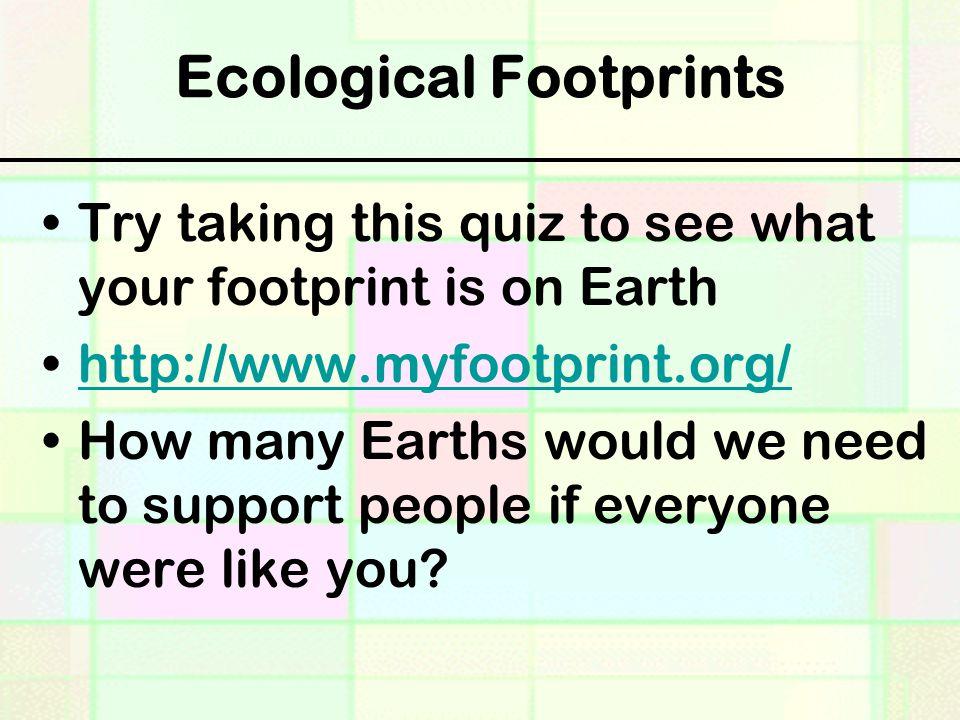 Ecological Footprints