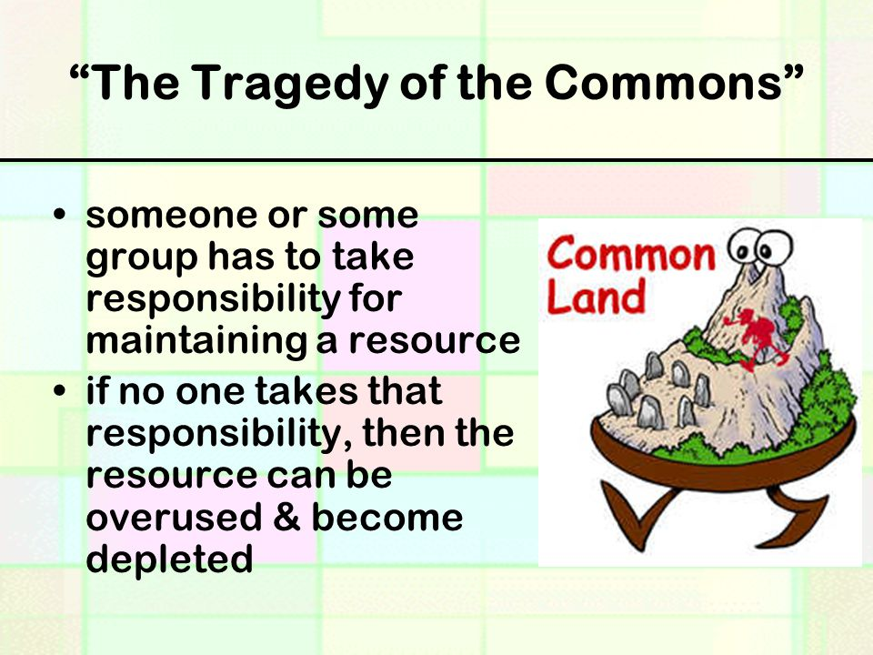 garrett hardin tragedy of the commons essay
