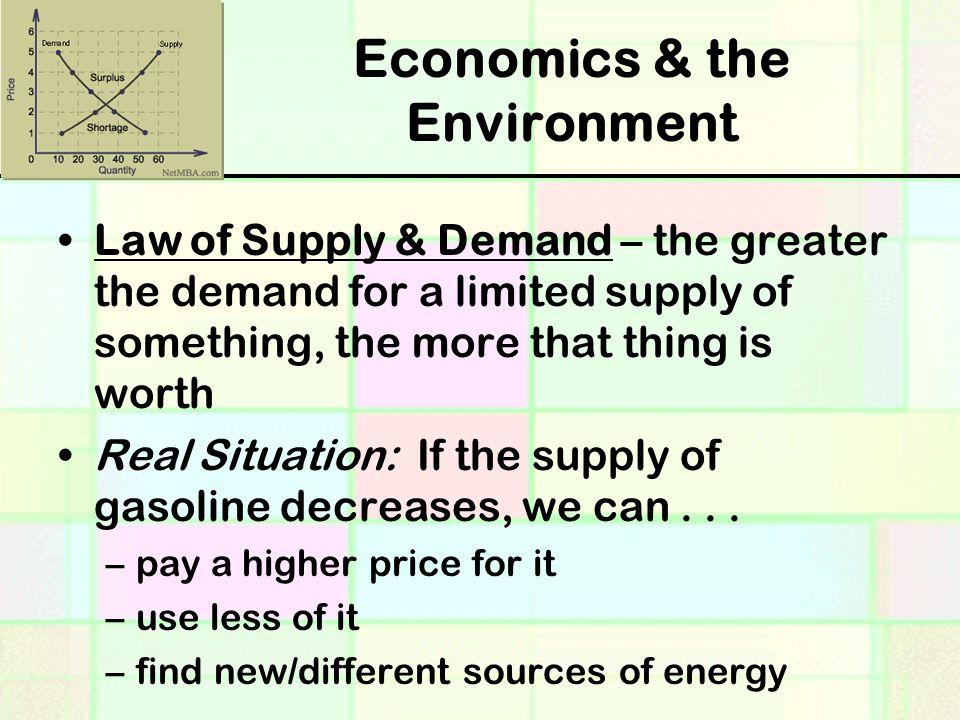 Economics & the Environment