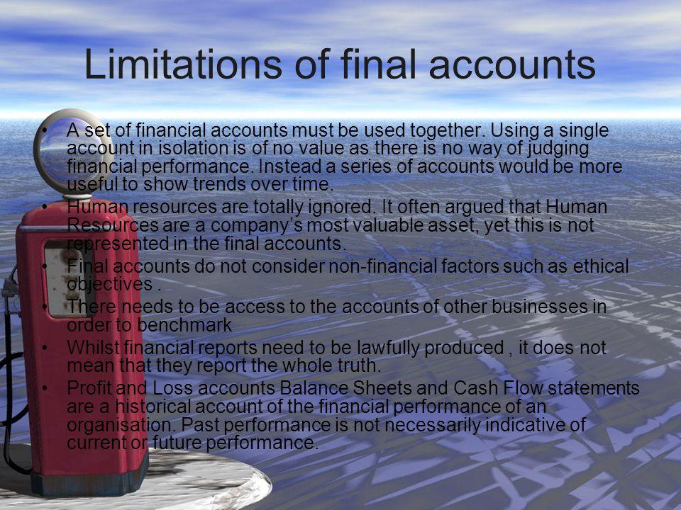Limitations of final accounts