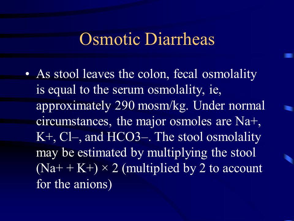 Osmotic Diarrheas