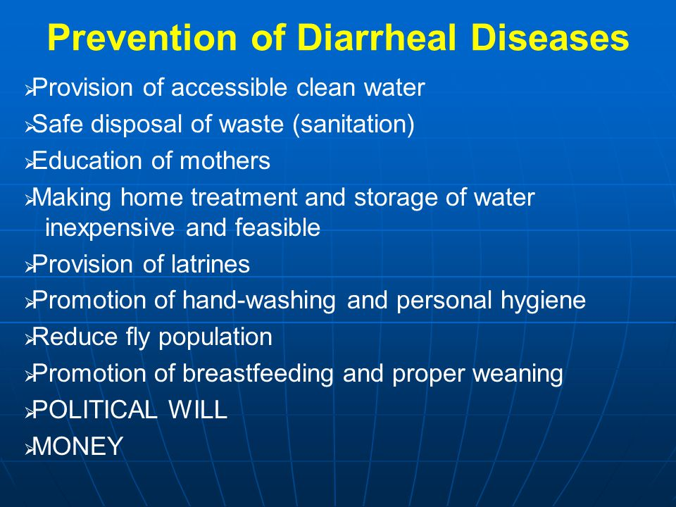 Prevention of Diarrheal Diseases