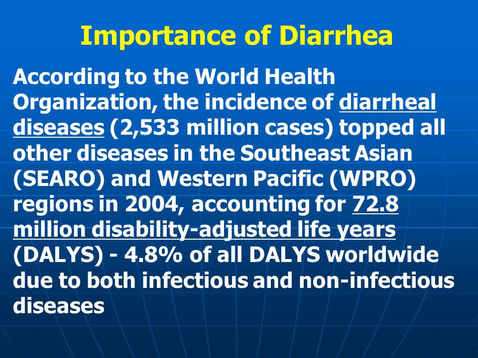 Respiratory Infections, Diarrhea and Influenza