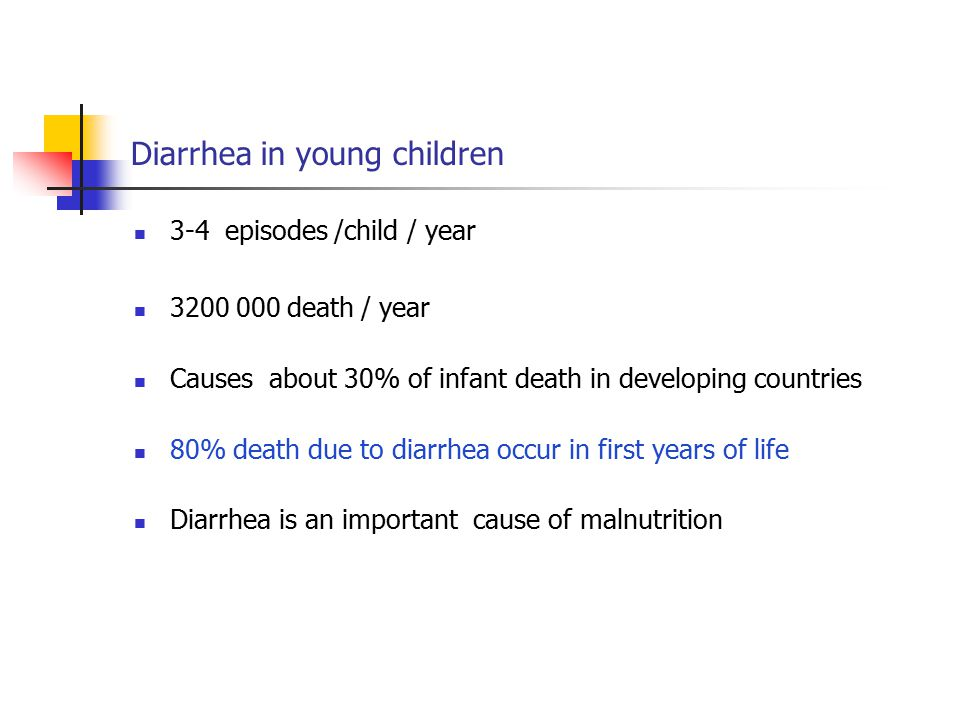 Diarrhea in young children