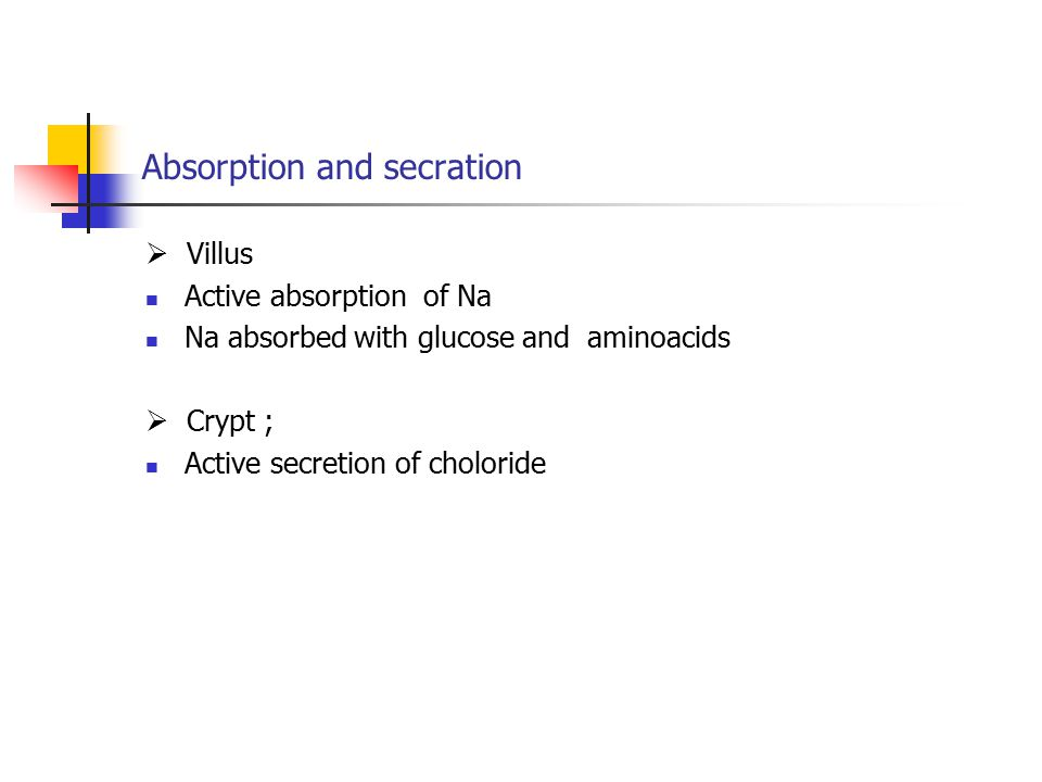 Absorption and secration