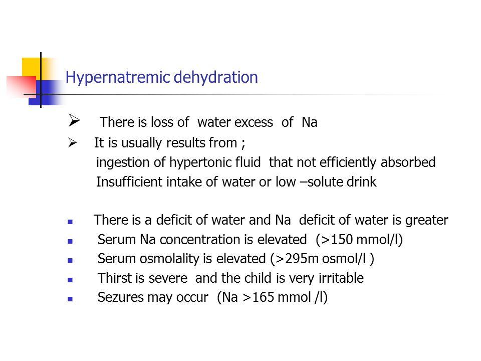 Hypernatremic dehydration
