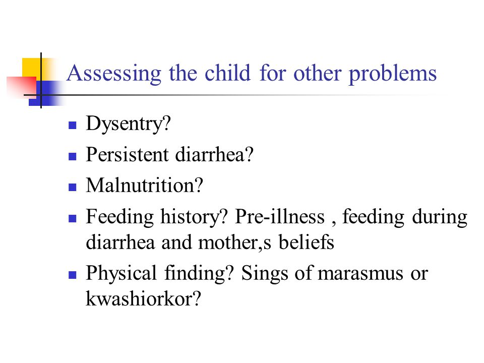 Assessing the child for other problems